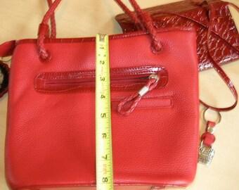 Vintage Little Red Leather Handbag - Valentine's Day