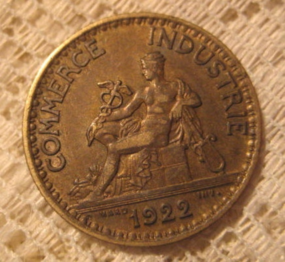1922 french coin bon pour 1 franc chamber of commerce for Bon pour 1 franc chambre de commerce