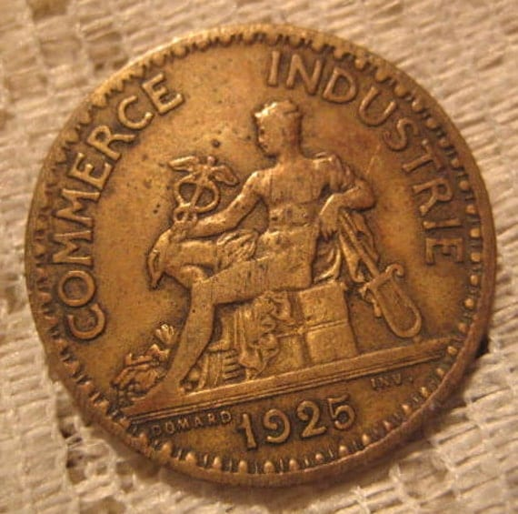 1925 french coin bon pour 1 franc chamber of commerce for Bon pour 2 francs 1925 chambre commerce