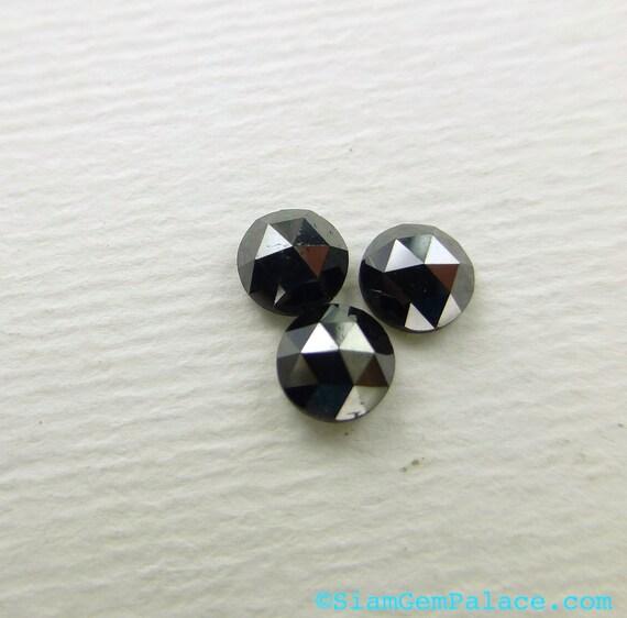 BLACK DiAMONDS. RoSE CUT. Natural. Super Clean. 1 pc. 0.30 cts. 4mm (DIA-blkrose-1)