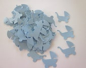 100 Light Blue Baby Buggy  Die Cuts