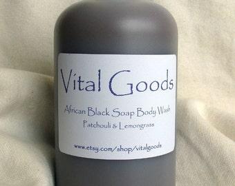 Patchouli & Lemongrass African Black Soap Body Wash