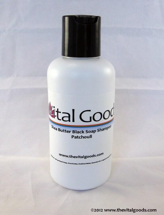 Dreadlock shampoo Patchouli Shea Butter Black Soap Shampoo 4oz