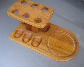Vintage Wood Tobacco Pipe Rack