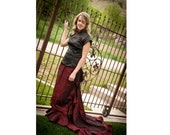 Black and Red Formal Oriental Inspired gown
