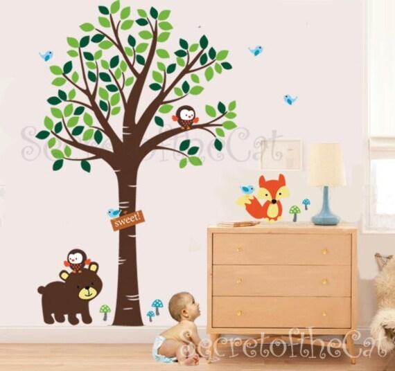 kinderzimmer wand aufkleber wandtattoo kinderzimmer wald. Black Bedroom Furniture Sets. Home Design Ideas