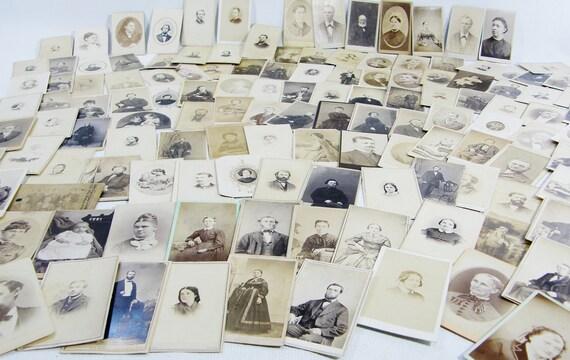 133 Family CDV Photos antique photographs