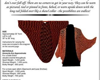 Hand Crochet Pattern, Cocoon Jacket, Crochet Pattern PDF, Crocheted Shawl, Double Crochet, Lacy Versions, Original Design, Instant Download