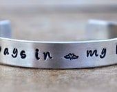 Hand-Stamped Aluminum Cuff  Bracelet - Memorial Jewelry - Miscarriage Jewelry