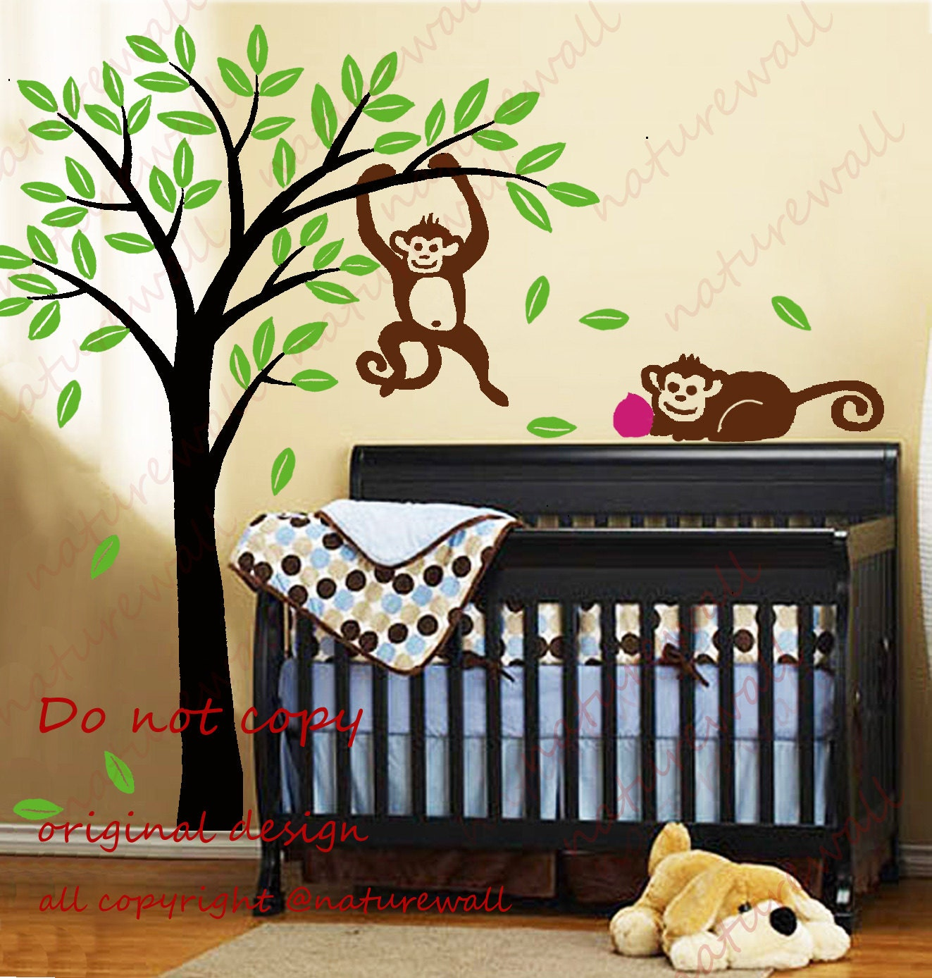 Popular items for tree with monkeys on Etsy