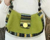 Purse - Made from Recycled Wool Sweaters - Fully Lined