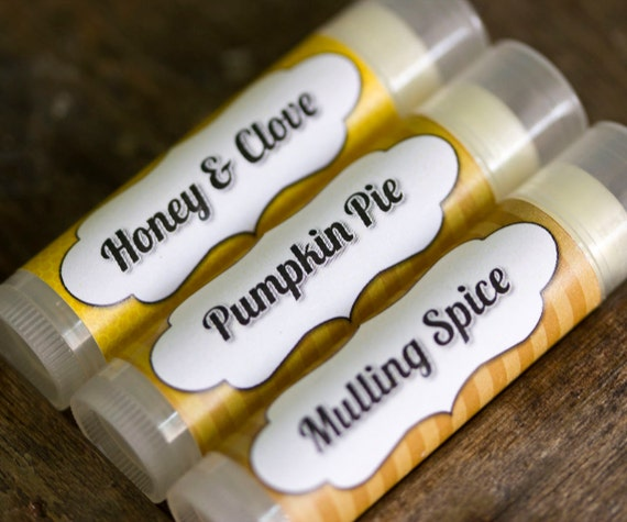 Autumn Lip Balm Trio Honey & Clove Mulling Spice and Pumpkin Pie