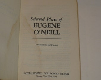 Eugene O'Neill, Selected Plays,Theater 1979, Books, Actors Plays Theater, Vintage Books,