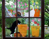 Curious Kittens in the Potting Shed