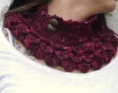 Victorian Lotus Collar Crochet Pattern (PDF File)