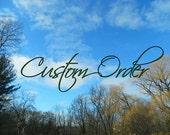 Custom order handfasting cord for Stephen & Fransisca
