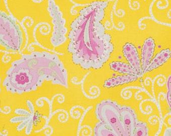 Pretty Little Things Madeleine in Yellow Fabric Dena Designs 1 Yard