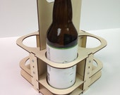 Reusable Eco-Friendly Wooden Beer Caddy for 22oz Bomber Bottles