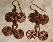 Copper Egyptian Spiral Earrings..........................no. 0275
