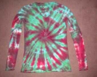 small long sleeve tie-dye