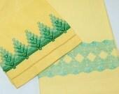 Swedish Embroidery Pair, Yellow