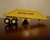 "1970s Yellow ""Bottom Dump"" Tonka Truck Trailer"