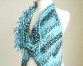 Vest in Blue By CrochetLab, Ready To Ship, OOAK Design