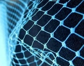 Aqua Turquoise Plain Veil Netting - Russian or French Net Birdcage Material, Half or Full 1 Yard