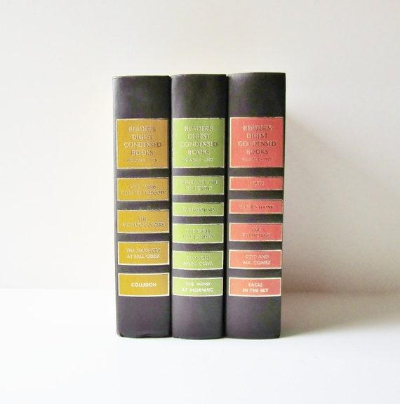 Autumn Color Vintage Books Instant Collection Home Decor Readers Digest Set 1970s