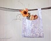 Lavender Damask Market Bag