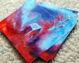 4x6 Red Sweep Postcard