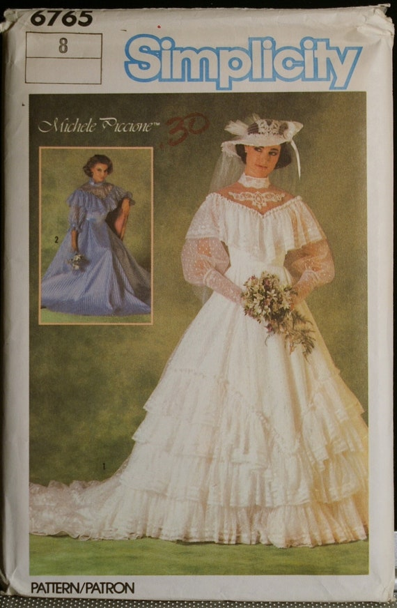 Simplicity 6765 misses southern belle style wedding gown or for Belle style wedding dress