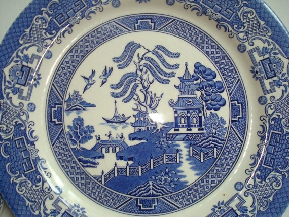 Blue willow china approx 10 5 inches holidays christmas sale cheap