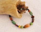 Men's Agate and Stone Multi-colored Bracelet