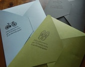 Letterpressed Note Set - 10 sheets of note paper & 10 envelopes