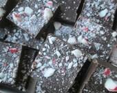 Peppermint Bark Dark Chocolate Enchanted Chocolates Martha's Vineyard Kraft Gift Box 70 Percent Cacao