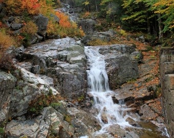 Flume Cascade in the White Mountains of New Hampshire