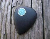 Boutique Ebony and Turquoise Guitar Pick - knuflight