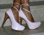 Barefoot Sandals bead, whites, wedding, Bikini, Women, Beach, Bridal Shoes, Bridal Sandals, Bridal Jewelry,shoes, READY TO SHIPFrom