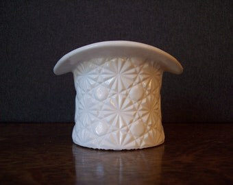 Vintage Milk Glass Top Hat Vase by Fenton Glass