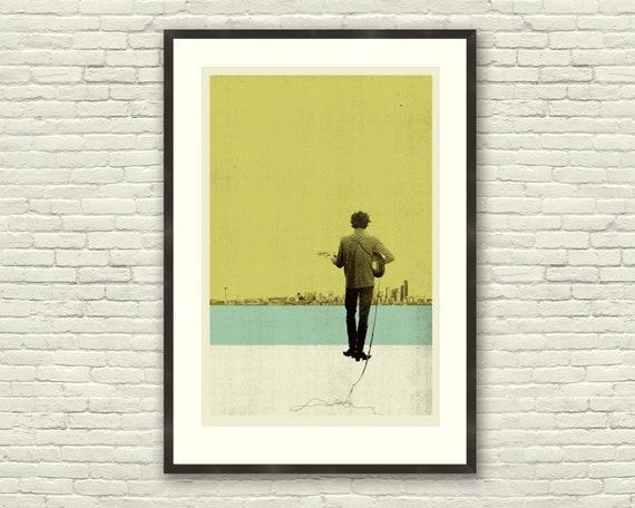 Bob Dylan Inspired 20 x 30 Handprinted Silkscreen Art ...