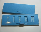 Clean / Dirty Dishwasher Sign, (blue on blue)