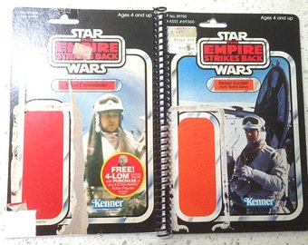 Rebel Soldier & Rebel Commander Recycled Vintage Star Wars ESB Notebook/Journal