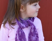 Made to order Toddler girl crochet scarf, purple, light purple, girl, boy, multi color, winter, fashionable