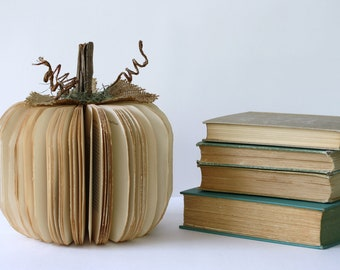 medium BOOK PUMPKIN /// made to order