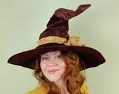 wizard or witch hat- LAUREL - Dark Chocolate Magic - Halloween