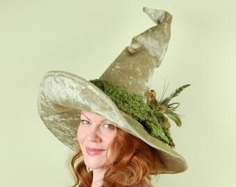 wizard or witch hat- LAUREL - Mossy Sage Magic - Halloween