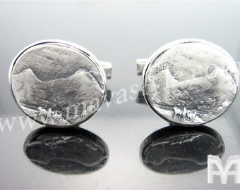 Sterling Silver Mount Ararat Cufflinks