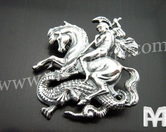 Sterling Silver Saint George Pin