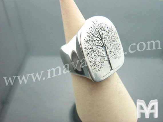 Sterling Silver World Tree of Life Ring